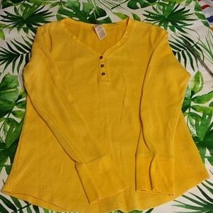 Faded Glory Mustard Color Long Sleeve Preown